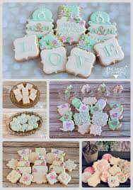 Shabby Chic Wedding Cookie Favors