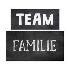 wandbilder set team familie wanddeko schwarz weiß für zuhause wand deko wohnzimmer
