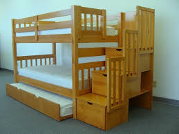 SAVE on Stairway Bunk Bed with Trundle Caramel