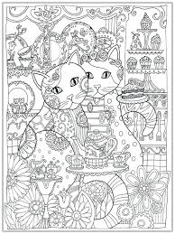 Easy Printable Coloring Pages For Adults Free Hard Color Cat Adult Realistic To Print Full