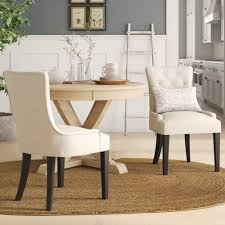 Tufted Roll Back Dining Chair | Wayfair Fniture Cheap Parsons Chairs For Match Your Ding Table Astonishing High Seat Room Covers Clearance William Upholstered Chair Kewaunee Provincial Slipcovers Faux Homepop In Blue Reviews Wayfair Armless Side Buy Ding Room Chair Covers From Green Warm Louis Xvi Style French Antique Macys Eamoxyz Evans Kitchen Design Everly Quinn Hunstant Bar Cart Randall Meg Pedestal Table