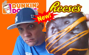 Dunkin Donuts Pumpkin Donut Calories by Dunkin U0027 Donuts Reese U0027s Peanut Butter Cup Donut Review 173 Youtube