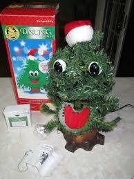 Vintage GEMMY Talking Singing Animated Dancing Douglas Fir Christmas Tree In BoxJPG