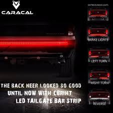 100 Truck Tailgate Light Bar 60 Double Row LED Strip RedWhite Reverse