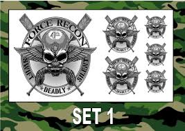 SPECIAL FORCES Temporary Tattoos SAS NAVY ARMY AIR