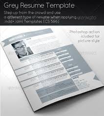 Grey Resume Template By Eugeniu Graphicriver Envato
