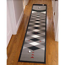 Putting Golf Green Practise Training Putt Indoor Mat Cup Backyard