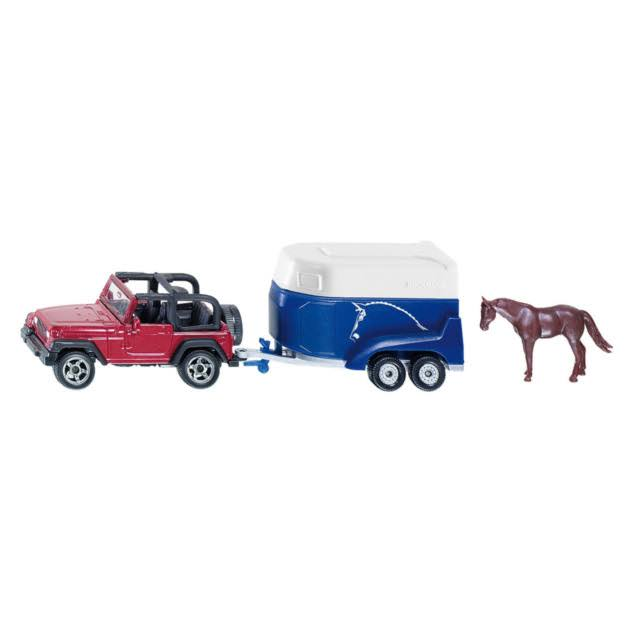 Siku Jeep With Horse Trailer