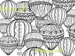 Stylish Ideas Intricate Coloring Pages Adults Hot Air Balloon Page