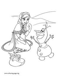 Frozen Anna Olaf Coloring Pages For Kids