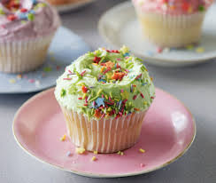 These sweet vanilla cupcakes covered with candy coloured vanilla frosting and sprinkles never fail to please When you make these at home don t overbake