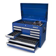 100 Service Truck Tool Drawers Kobalt 347Piece Standard SAE And Metric Polished Chrome