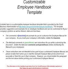 Sample Employee Training Manual Complete Wiring Diagrams O Free Handbook Template Basic Employment