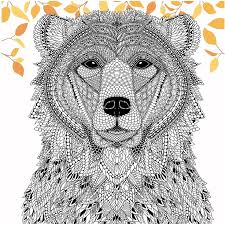 Color A Bear From The Menagerie Free Adult Coloring Page