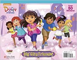 Big City Friends Dora And Coloring Book