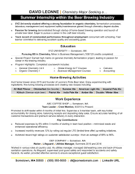 Resume Format For Internship Samples