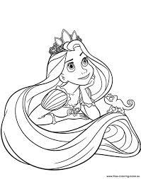 Full Image For Disney Printables Coloring Pages Tangled Rapunzel Page 1 Printable