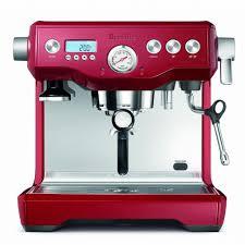 Kitchen Dual Coffee Maker New Breville Cranberry Red Bes920bsxl Boiler Espresso Machine
