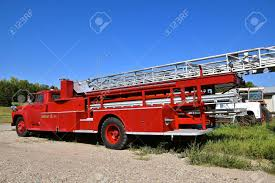 100 Old Fire Truck An With Long Ladder And 911 Emergency Call Number