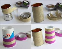 Earth Day Washi Tape Flower Vase