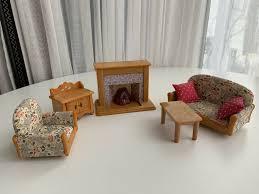 sylvanian families wohnzimmer mit kamin
