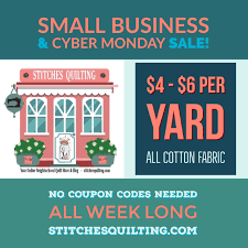 Cyber Monday Quilt Fabric Week Long Sale • Stitches Quilting Fabriccom Coupon By Gary Boben Issuu Joann Fabric Coupons 4060 Off More At Joann In Store Printable 2019 1502 Fabrics Online For Upholstery And Store Online Vitamine Shoppee National Express Voucher Code March Bloody Mary Metal How To Score A Mattress Deal Consumer Reports Crush The Whole Family Ottawa Canada Tbao Promo Code 50 Off On Deals September Vouchers Dfw Parking Palm View Golf Course Coupons The Best Shops So Sew Easy