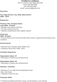High School Resume For College Sample Activities Amazing With