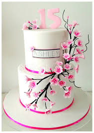 Sweet Art Cakes by Milbreé Moments Ashley s Cherry Blossom 15th