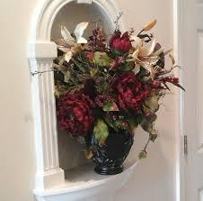 floral arrangement red peony table floral centerpiece elegant