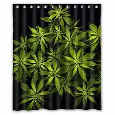 marihuana unkraut dusche vorhang 60x72 zoll badezimmer moderne