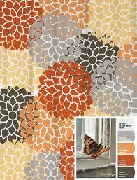 Curtain Orange And Grey Shower Curtain Jamiafurqan Interior