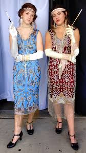 Classy Womens Flapper Outfits Exclusive Fringed And Beaded Gowns Art Deco Dresses Headbands