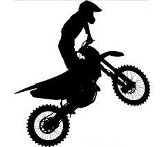 stickers mural d une moto cross sur mesure disponible en moulte