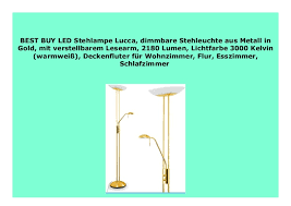 big sale led stehle lucca dimmbare stehleuchte aus