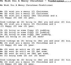 Rockin Around The Christmas Tree Chords Pdf by Song We Wish You A Merry Christmas By Traditional With Lyrics For