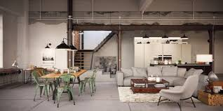 luxury industrial loft apartment möbel industriedesign