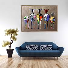100 Pop Art Home Decor Colorful Abstract Giraffes Wall Pictures HD Print On Canvas Lovely Animals Painting For Baby Room