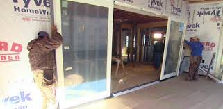 Installing Sliding Glass Door Unit on Kuppersmith Project House