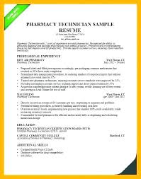 Pharmacist Cv Sample Word Resume Examples Pharmacy Tech Technician Example Resumes