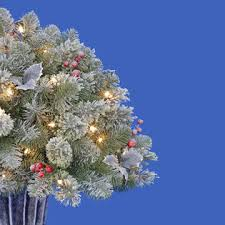 3 100 Clear Light Springport Flocked Mini Christmas Tree 1
