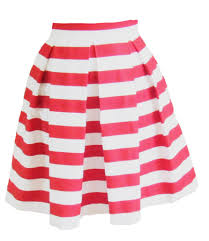 red and white striped hartley skirt u2013 sandeeroyalty
