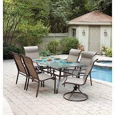 Mainstay Patio Furniture Company by Mainstays York 7 Piece Patio Dining Set Seats 6 Walmart Com