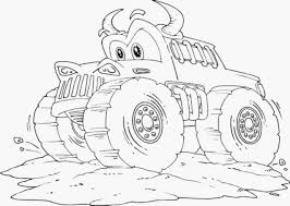 100 Monster Truck Coloring Pages To Print With Drawing Kids Printable