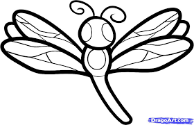 Drawn Dragonfly Coloring Page 8