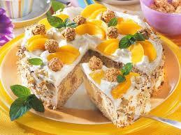 giotto nuss torte mit pfirsichen