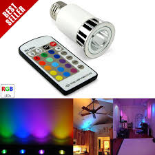 multi color led light bulb w remote e27 base led light bulbs
