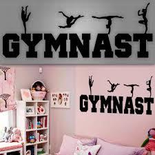 Wall Mural Decals Canada by Gymnast Wall Decal Girls Gymnast Wall Sticker Girls Room Decor