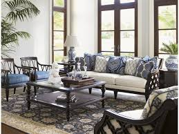 Threshold Campaign Desk Dimensions by Tommy Bahama Home Royal Kahala Bay Club Exposed Wood Sofa With