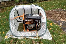 how to provide cover for your portable generator during bad weather