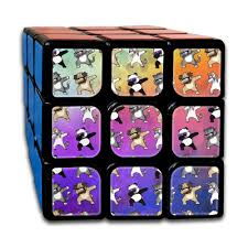 HZamora H Dabbing Unicorn Cat Pug Panda Funny 3X3 Magic Speed Cube Logical Fun Best Puzzle Toy For Adults Kids Holiday Gift By